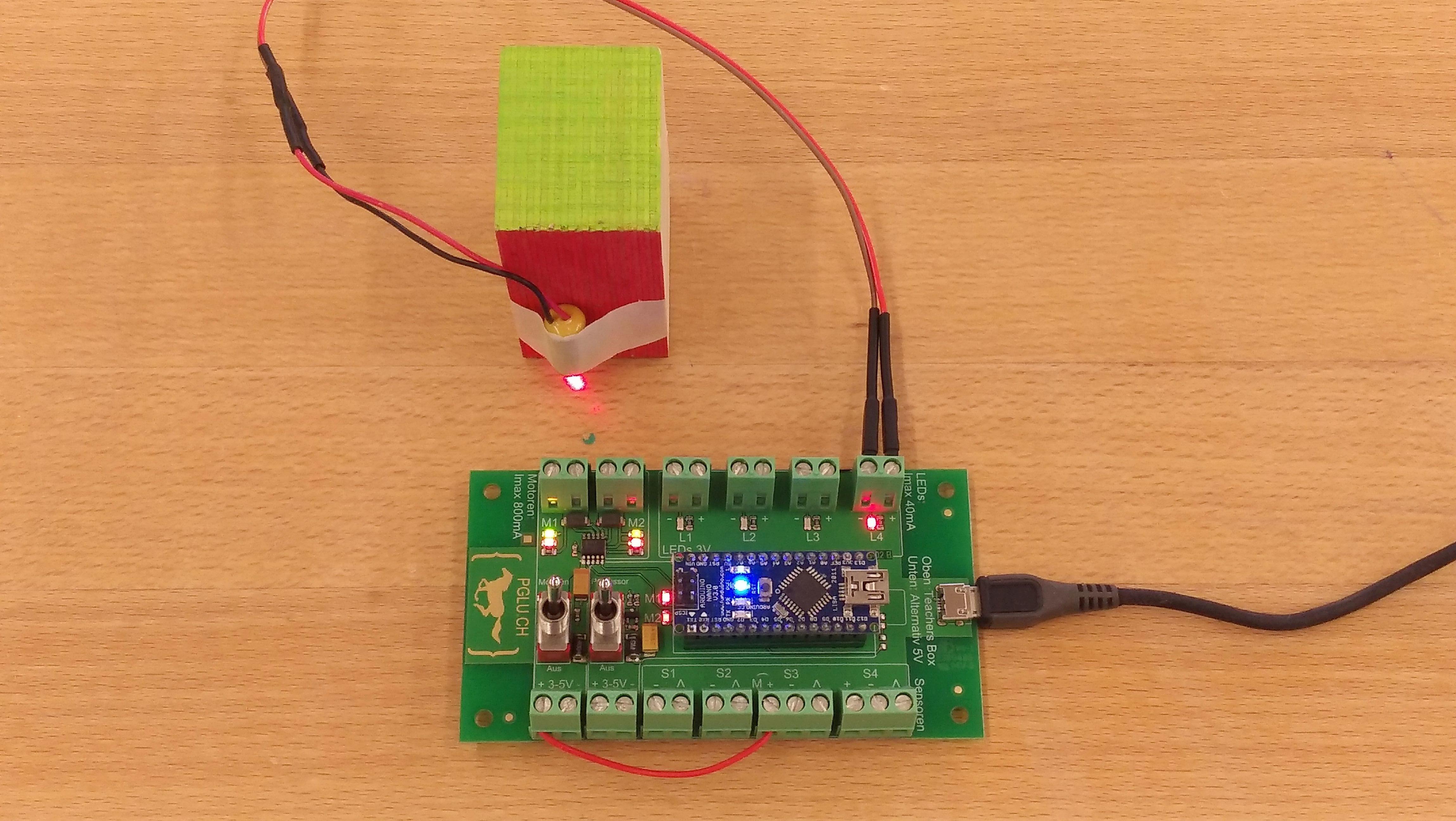 PGLU-Platine Anschluss Laser gesteuert