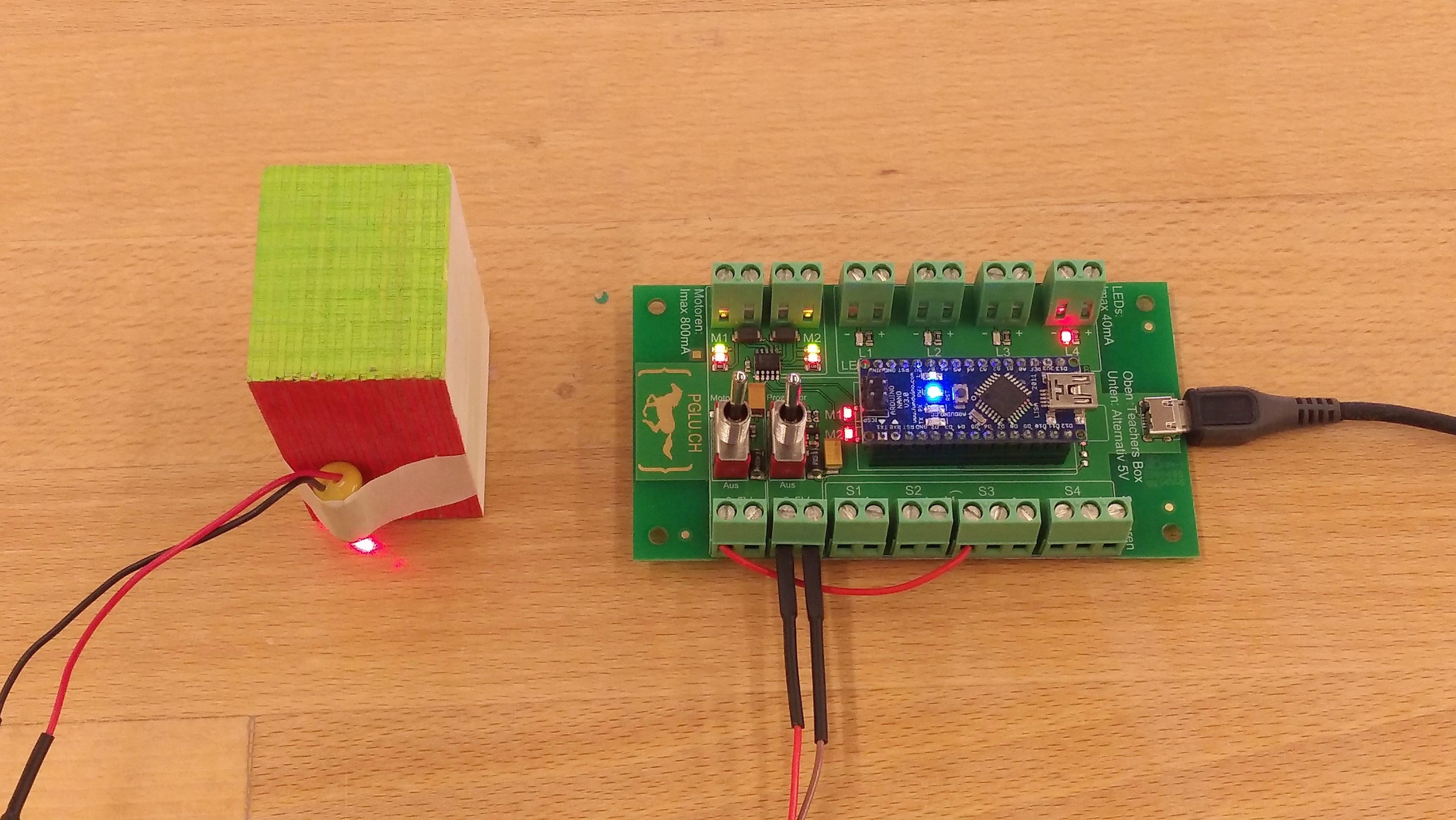 PGLU-Platine Anschluss Laser