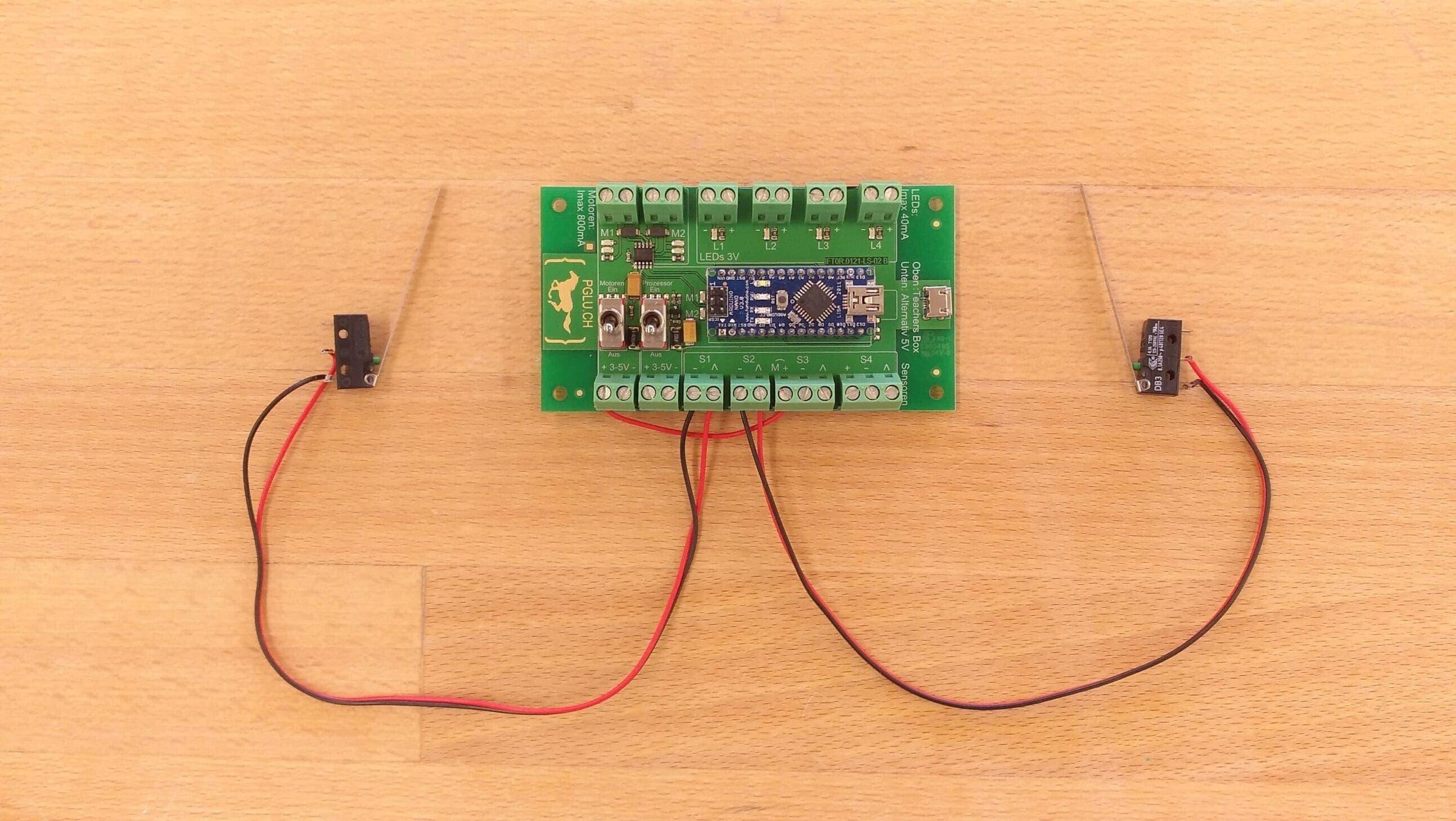 PGLU-Platine Anschluss Sensoren2