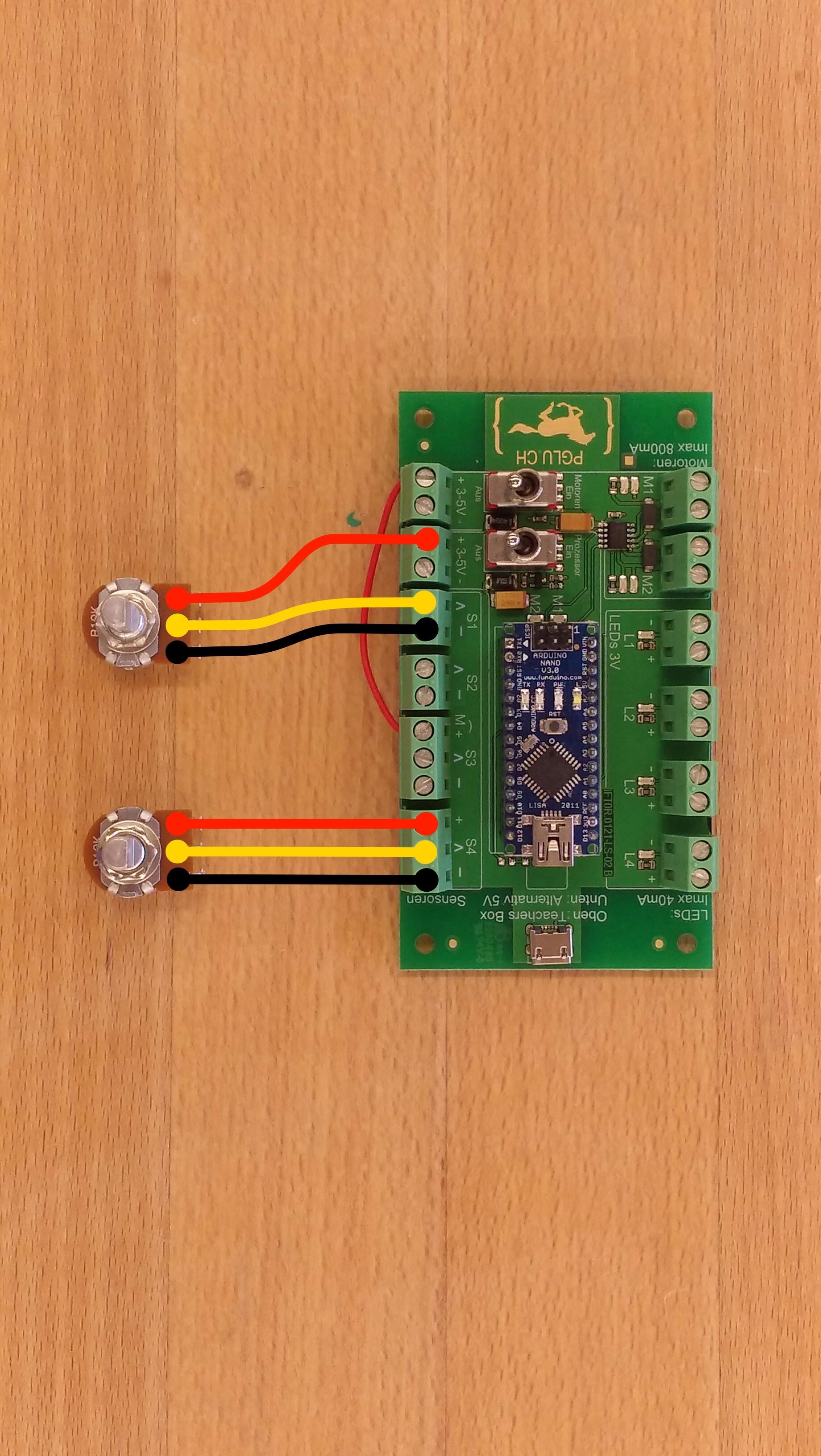 PGLU-Platine Anschluss Sensoren
