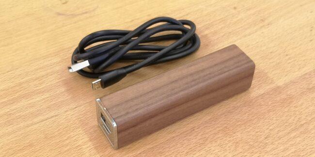 Powerbank 2000mAh Holz