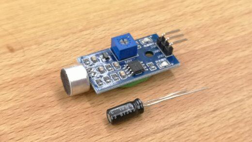Sensor Mikrofon mit Kondensator