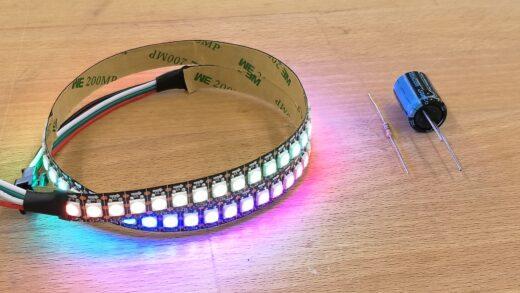 Produktbild WS2812 Stripe 50cm mit 72 LEDs. IP30