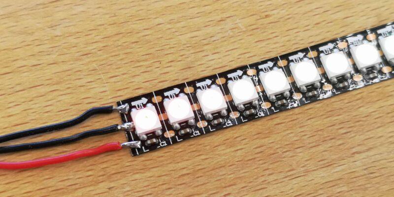 Anleitung Anschluss WS2812 LED Stripe