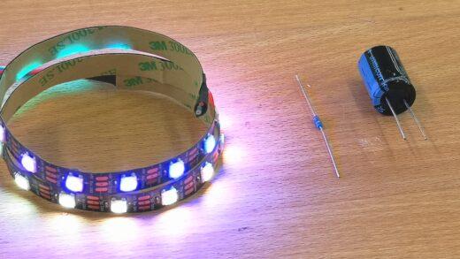 Produktbild WS2812 Stripe 50cm mit 30 LEDs. IP30
