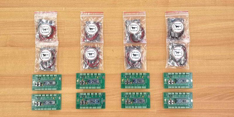 Produktbild Klassensatz Plexiglaslampe mit Arduino Soundsensor für die Schule