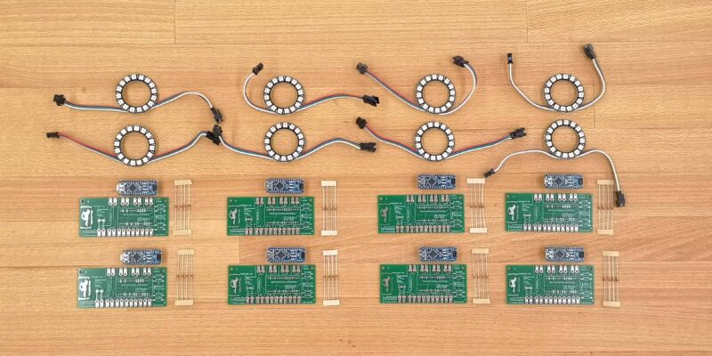 Produktbild Klassensatz Neopixel Ring 16 Pixel für Arduinoprojekte in der Schule