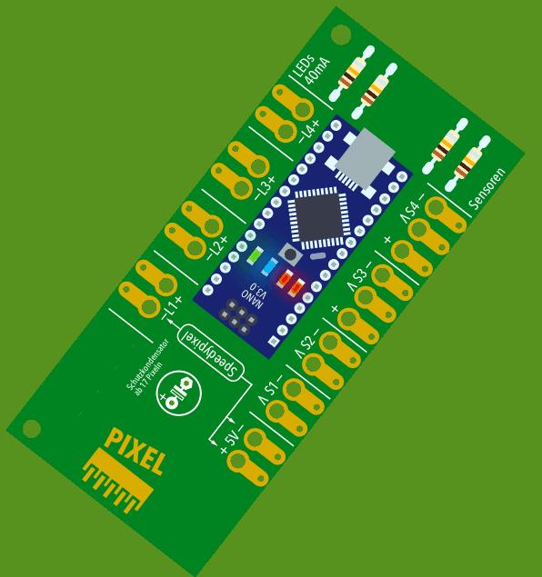 """Erweiterte Arduino Platine für Neopixel WS2812 """"Lightversion"""" zum selber löten"""