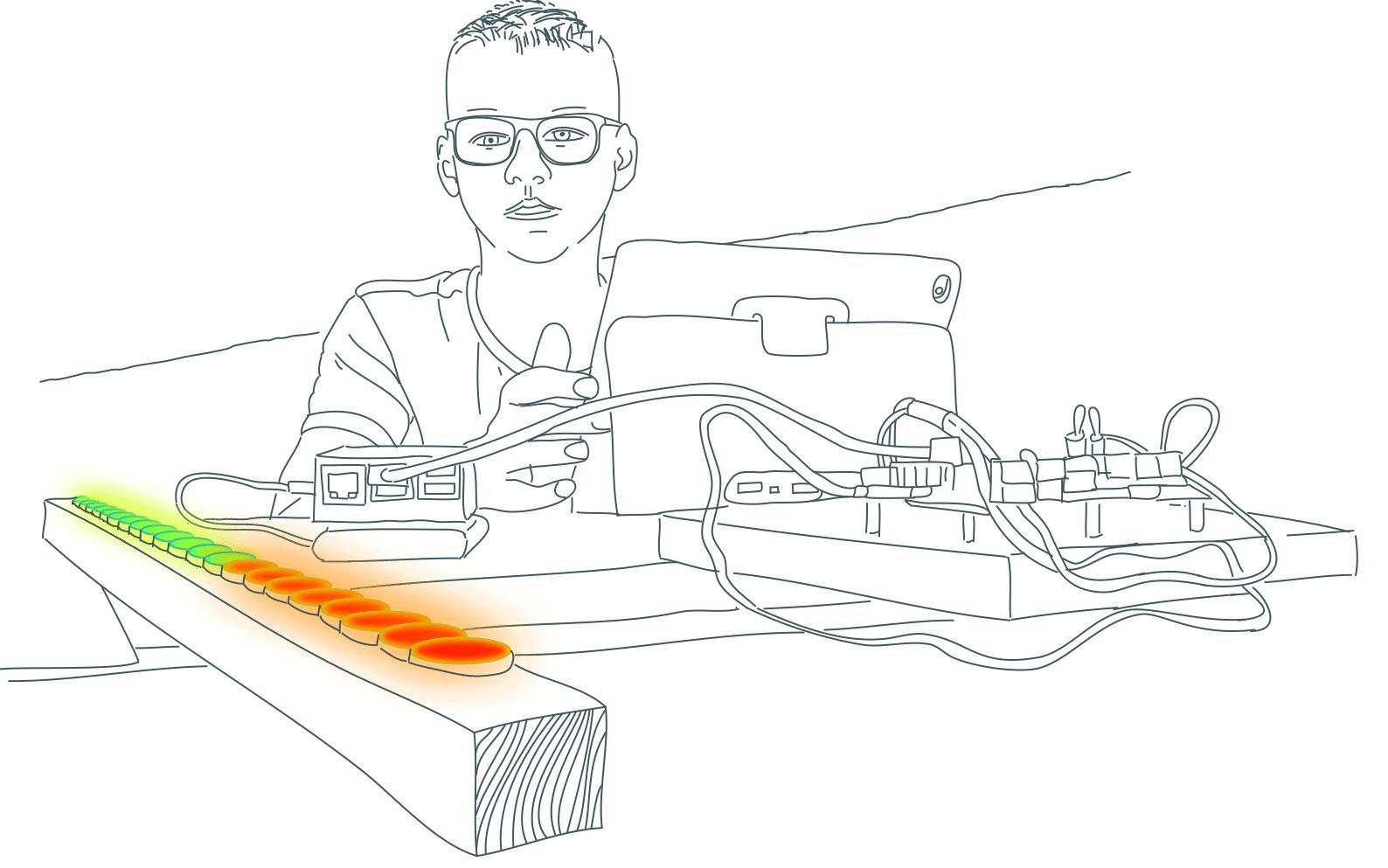 zeichnung Schüler Neopixel