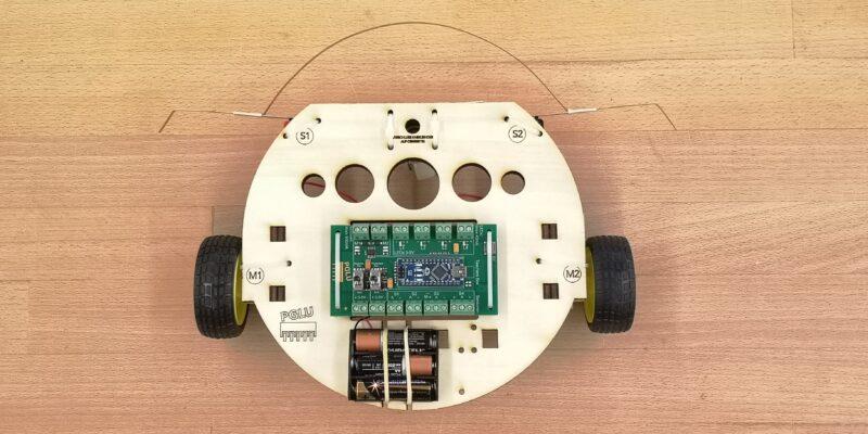 Arduino Roboter von oben gesehen