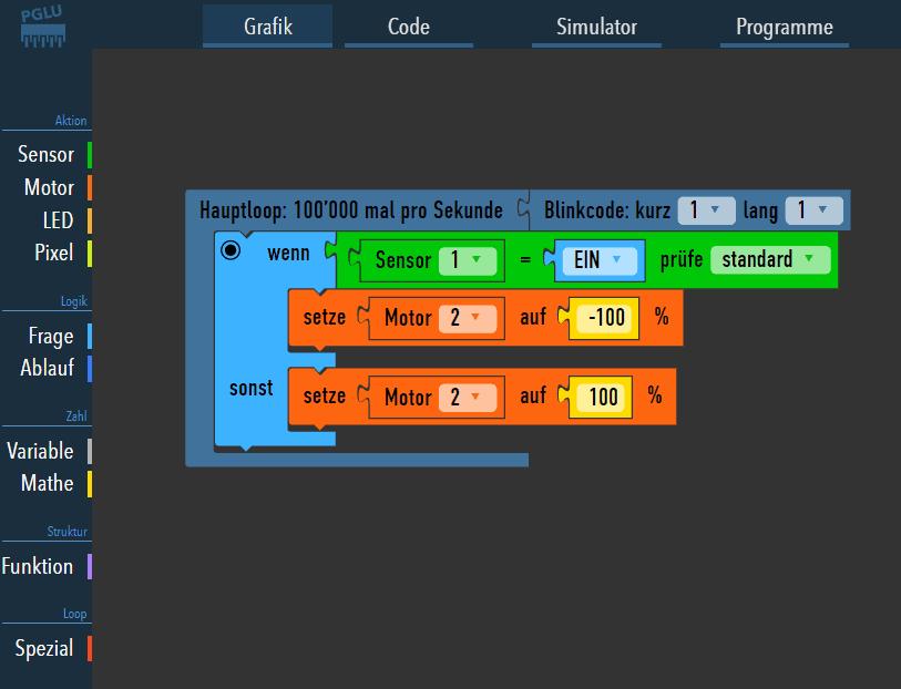 Arduino grafisch programmieren mit dem PGLU-Editor