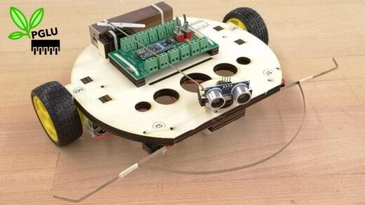 Produktbild Roboter Starter Kit mit Chassis aus nachhaltigem Oekoplan Sperrholz